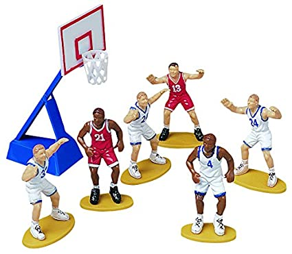 Toy Zany Wilton Cake Design Cake Decoration Basketball 7 Pieces