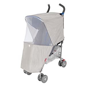 Maclaren Universal Mosquito Net- Two-Panel Protective net Stroller Accessory Easily attaches to Frame. Fits All Maclarens and All Umbrella fold Single Stroller Brands. Protect Against Insects!