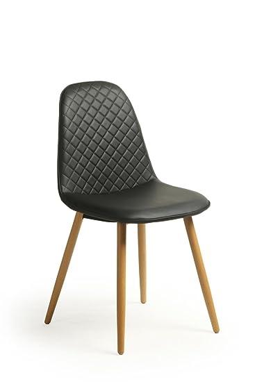 2 Stück 2 Stück Retro Stuhl Skandinavisches Design Trend Nordic Falsch  Wohnzimmer Leder Esszimmer/Bürostuhl