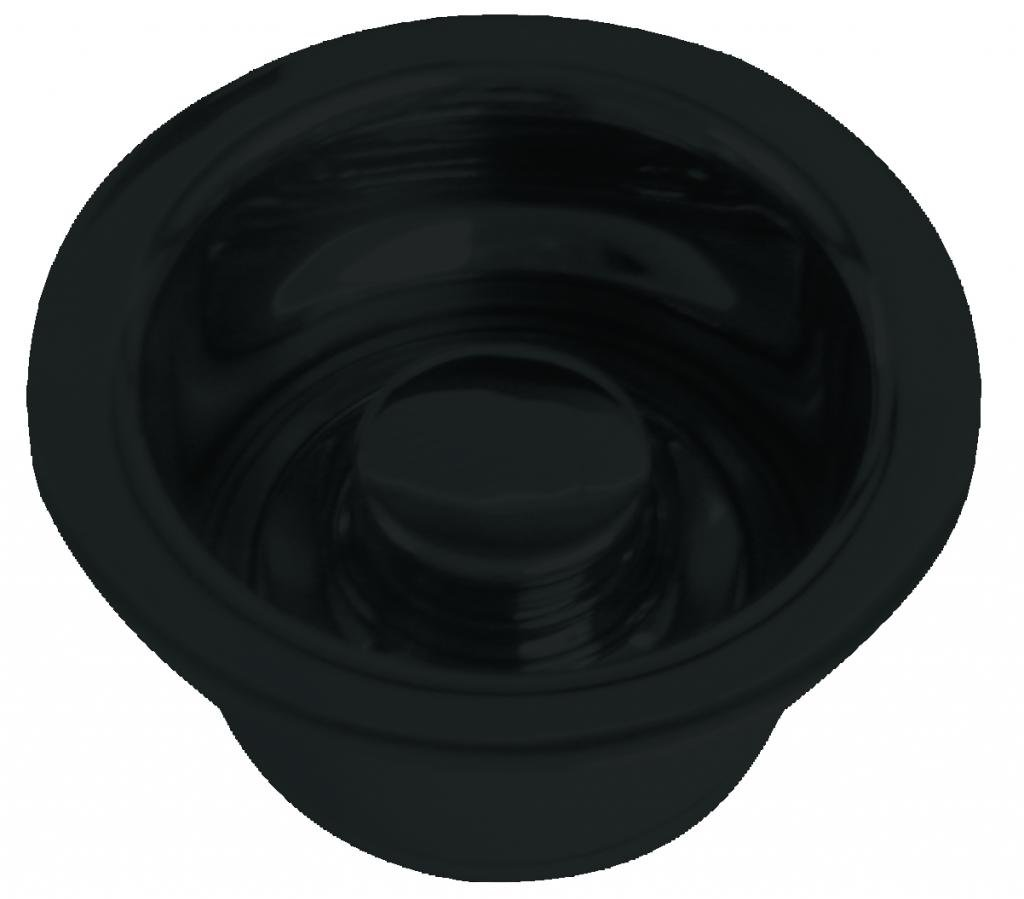 InSinkErator Style Extra-Deep Disposal Flange and Stopper in Powdercoated Flat Black