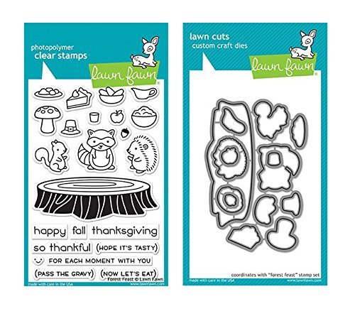 Lawn Fawn Clear Stamp & Die Set - Forest Feast (Kit) by Lawn Fawn