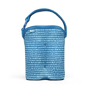 Built Bottle Buddy Two Bottle Tote, In Dribble Dots Blue