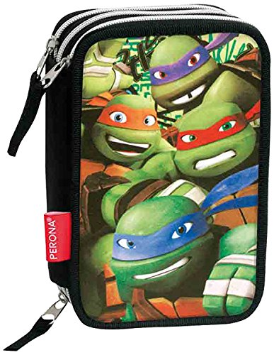 Amazon.com : Plumier Tortugas Ninja Ready Triple : Office ...