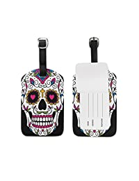 Use4 Mexican Sugar Skull Luggage Tags Travel ID Bag Tag for Suitcase 1 Piece