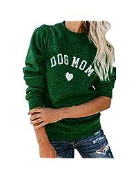 AIHOME Sweatshirt with Letter, Long Sleeve Hooded Sweatshirts Tops Sweatshirt