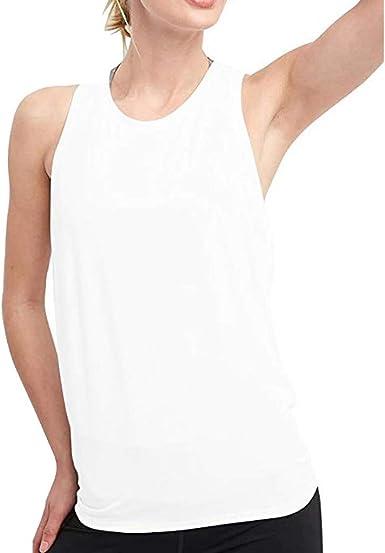 Sulifor Chaleco de Deporte Sexy de Espalda Abierta,Camiseta sin Manga de sólido,Chaleco de Yoga con Corbata,Ropa de Entrenamiento Tank Tops para Mujer