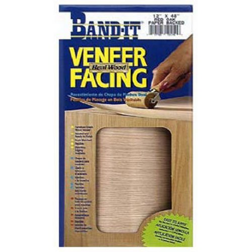 (BAND-IT 12421 12-Inch x 4-Feet Iron-On Edging HM Veneer Facing, Red Oak)