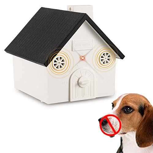 Anti Barking Device, 2018 New Ultrasonic Bark Box Outdoor Dog Repellent Device with Adjustable Ultrasonic Level Control Safe for Small Medium Large Dogs, Sonic Bark Deterrents, Bark Control Device