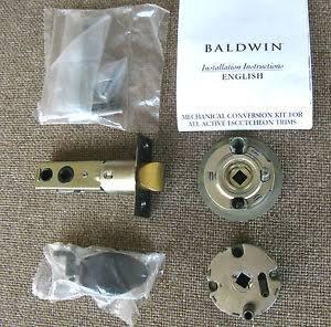 Baldwin Hardware 5399.102.H Conversion - Double Escutcheon Handleset Cylinder