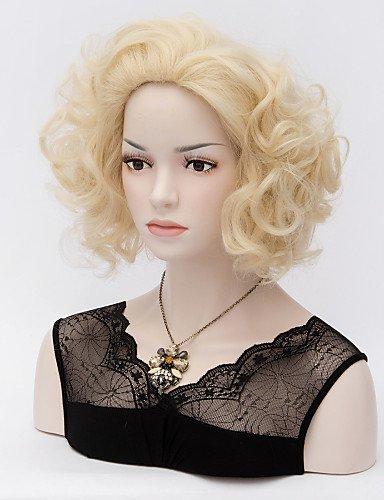 cortos monroe marilyn rizado pelucas rubias pálidas calor sexy rizos resistente peluca de cabello completa: Amazon.es: Deportes y aire libre