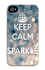 Keep Calm And Sparkle Hard Case Cover Skin for iPhone 4 4S Kimberly Kurzendoerfer