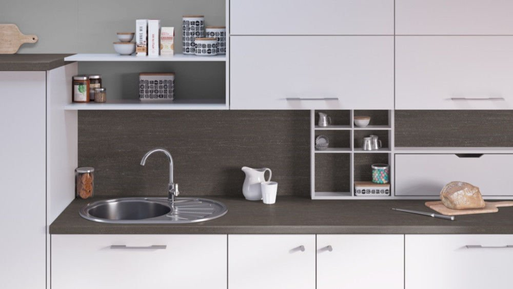 Egger Contemporary Tivoli Anthracite Effect Laminate Kitchen Worktops - 38mm Offcut Bathroom Work Surface 40mm Breakfast Bar - 1m x 600mm x 38mm Worktop