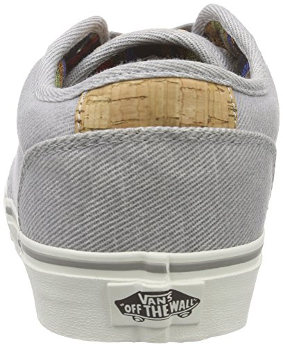 Vans - Atwood Deluxe, Zapatillas Hombre Gris (washed Twill/gray/marshmallow)