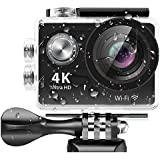 4K Action Camera,Banne 4D3 Ultra HD Waterproof DV Camcorder 12MP 170 Degree Wide Angle- Include Full Accesspries Kits (Black) (H9R)