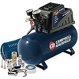 Campbell Hausfeld 3-Gallon Air Compressor with 10 Piece Kit, Horizontal Tank, Oilless, .36 CFM .33HP 120V 3A (FP209499AV)