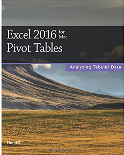 Excel 2016 for Mac Pivot Tables