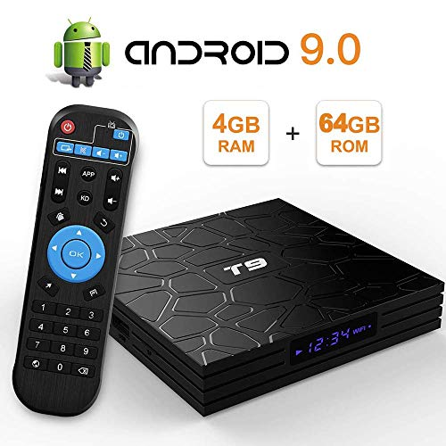 Smart 9.0 TV BOX T9 Android 9.0 TV Box 4GB 64GB RK3318 Bluetooth 4.2 2.4G&5.0Ghz Wifi 4K Media Player Android Smart TV…
