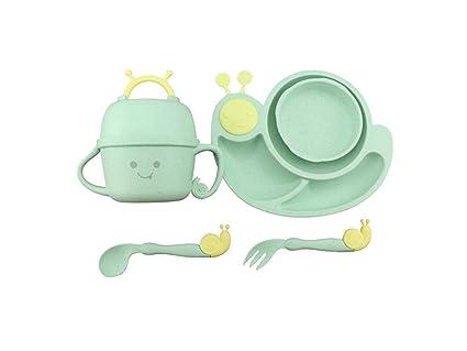 2b5a7446946f Amazon.com: Junson Children Plate Wheat Fiber Snails Shape Dish ...
