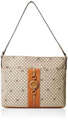 Tommy Hilfiger Purse for Women Jaden Hobo, Tan - Hilfiger Sale Handbags On Tommy