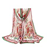Lightweight Fall Scarfs for Women Hot Sale,deatu Clearance Ladies Flowers Printing Long Soft Wrap Scarf Shawl (L)