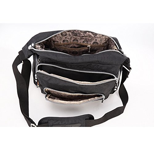 Fashion Body Bag Foino Shoulder Bookbag Messenger Bag Satchel for Women Bag Cross Girls Side Designer Black Travel Sport Bag Pack Crossbody xwzBfAqzX0