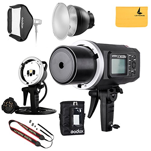 GODOX AD600BM 600Ws GN87 HSS AD sync 1 / 8000s 2.4G wireless Flash Light Speedlite,80 X 80 cm Flash Softbox,Standard Reflector,AD-R6 Flash Diffuser,Monolights Kits by Godox