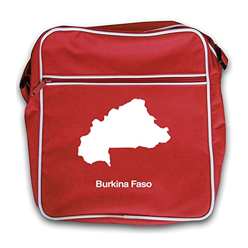 Faso Retro Burkina Bag Flight Silhouette Red TxqqwafA