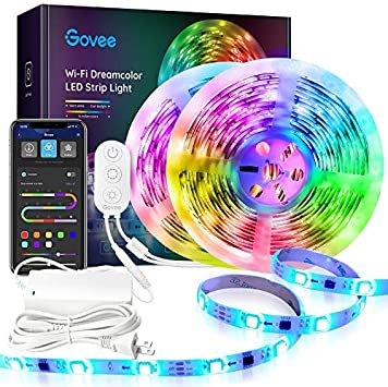 Govee APP 32.8Ft Rgbic 32.8Ft Smart LED Lights Strip RGBIC with Music Sync