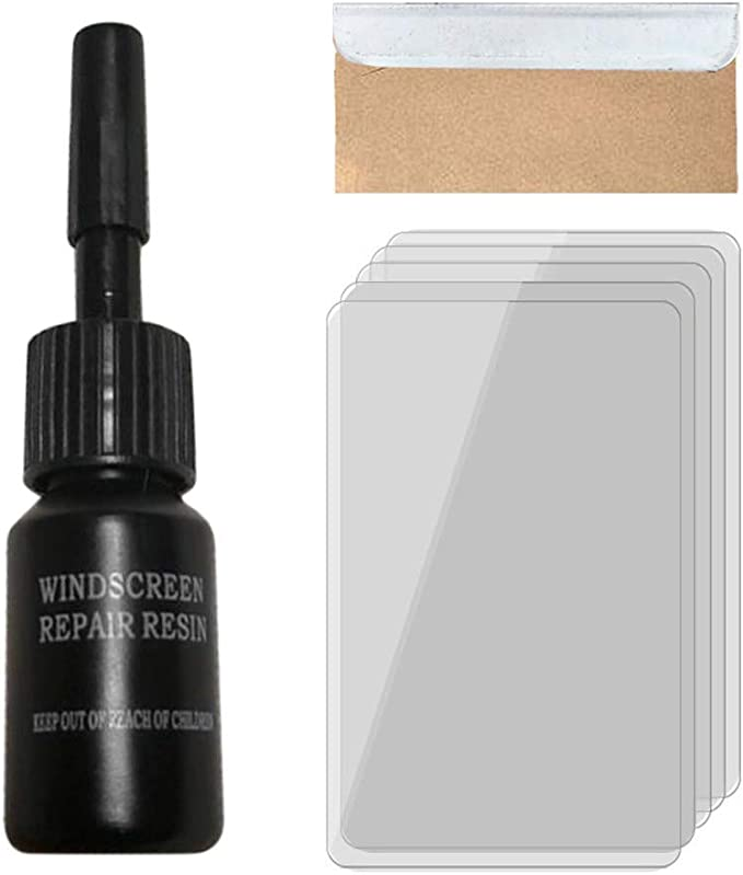 4 Pack Automotive Glass Nano Repair Fluid Kit Car Windshield Repair Set Glass Repair Set Crack Repairing Replenisher for Auto Glass Crack Crater and Scratch Fixing