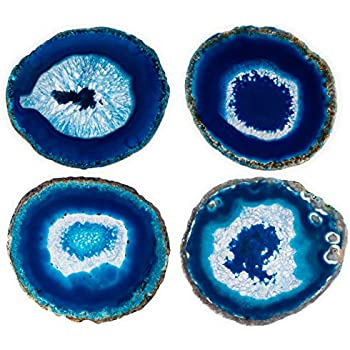 Blue Agate Coasters Set of 4 - 3.5
