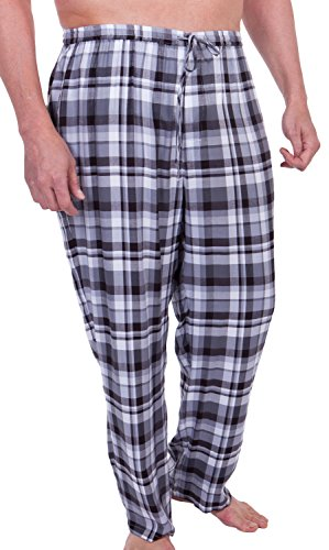 Men's Woven Plaid Pajama Pants (Hypnos) Luxury Gifts for Men by Texere