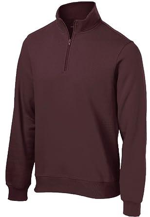 30482b1b1a35 Amazon.com  Men s Athletic 1 4-Zip Sweatshirt in Sizes XS-4XL  Clothing