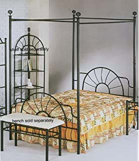 83h sunburst queen size canopy bed headboardfootboard