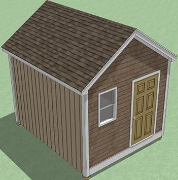 Planos de cobertizo de 10 x 12 pulgadas, guía de construcción paso a paso, para jardín/utilidad/almacenamiento: Amazon.es: Bricolaje y herramientas