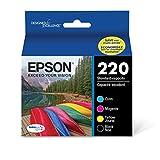 Epson T220120-BCS 220, Black and Color Ink Cartridges, C/M/Y/K 4-Pack