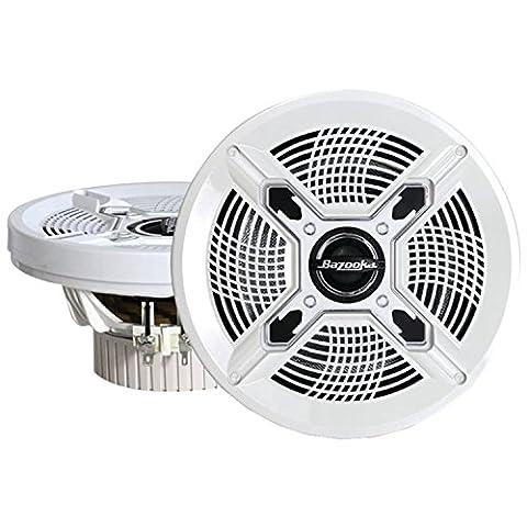 Bazooka MAC6510W 6.5-Inch Marine Coaxial Speaker - Set of 2 (White) (White Ion Speaker)