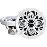 Bazooka MAC6510W  6.5-Inch Marine Coaxial Speaker - Set of 2 (White)