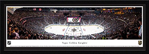 Inaugural Game Framed - Vegas Golden Knights -1st Game at T-Mobile Arena - Single Mat, Select Framed NHL Print by Blakeway Panoramas