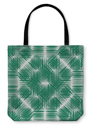 - Gear New Shoulder Tote Hand Bag, Whitegreen Of Intersecting Lines, 18x18, 1691662GN