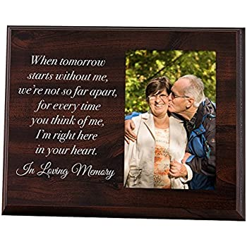 elegant signs memorial picture frame keepsake plaque that holds a 4x6 photo sympathy gift to tribute the loss of a loved one