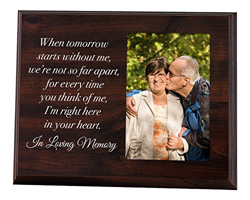 Elegant Signs Memorial Picture Frame - Keepsake Plaque that Holds a 4x6 Photo - Sympathy Gift to Tribute the Loss of a Loved One (Heart Message Plaque)