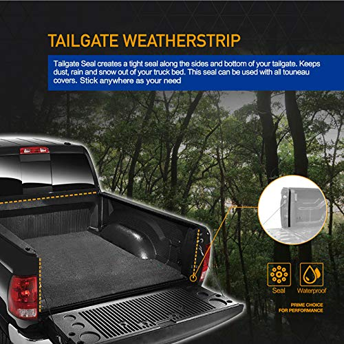 Deebior 1pc 5FT//59.8-60.5 Hard Tri Fold Truck Bed Tonneau Cover+LED Lamp+Install Instruction+Rubber Seals For 2016-2019 Toyota Tacoma