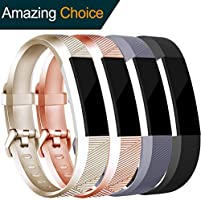 Tobfit for Fitbit Alta HR/Fitbit Alta Bands Large Small Straps Varied Colors and Editions for Fitbit Alta HR Fitbit Alta (Clasp Edition Gold+Rose Gold, Small)