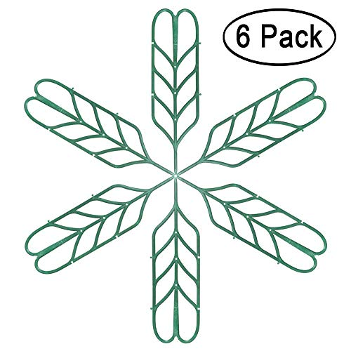"Seway Garden Trellis, Plant Trellis DIY for Potted Plant Support, Leaf Shape Mini Climbing Plants Flower Vegetables Rose Vine Pea Ivy Cucumbers Pots Support, 4 16"" (6 Pack)"