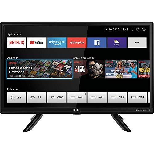 """Smart TV LED 24"""" Philco PTV24G50SN Conversor Digital HD com 2 HDMI"""