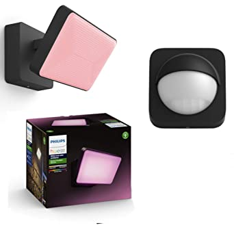 Sensor Philips Hue White /& Color Ambiance LED Sockelleuchte Calla Basis-Set /& Erweiterung inkl 16 Millionen Farben kompatibel mit  Alexa