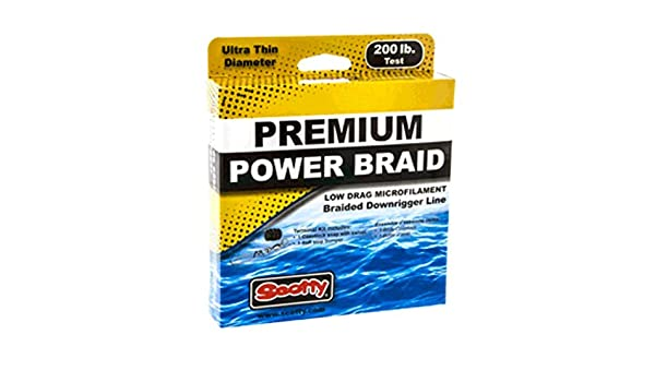 400ft Of 200lb Test Scotty Premium Power Braid Downrigger Line