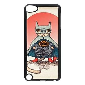 iPod Touch 5 Case Black SUPERHERO CAT LV7090497