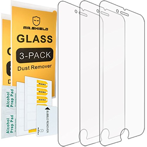 [3-Pack] - Mr Shield for iPhone 8 [Tempered Glass] Screen Protector [0.3mm Ultra Thin 9H Hardness 2.5D Round Edge] with Lifetime Replacement