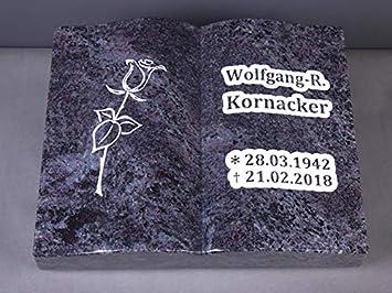 Inschrift und Ornament inkl Liegestein Grabsteine